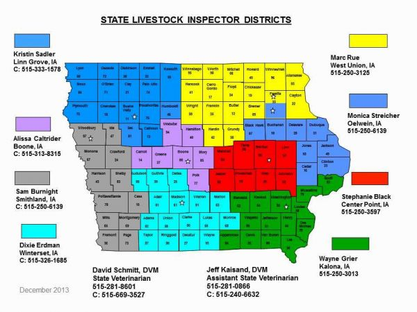 Oelwein Iowa Map.Iowa Dept Agriculture Contacts Itboa